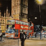 Early spring night in London